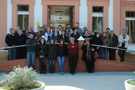 Photo of the FLOCK-REPROD Consortium in Murcia (7 countries represented of 14 different organisations):